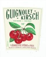 étiquette , GUIGNOLET-KIRSCH  , Védrenne Père & Fils , Nuits St Georges - Etiquettes