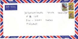 Fiji Airmail Cover To Finland, Stamps Birds   (Z-8697) - Fidji (1970-...)