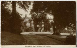 ANGLETERRE CREWE WISTATON HALL SCHOOL - Angleterre