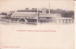 CPA -  LA MACHINE -  Ateliers De Criblage Et De Lavage Au Pré Charpin - La Machine