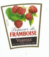 étiquette , Liqueur De FRAMBOISE,  Védrenne Père & Fils , Nuits St Georges - Etiquettes