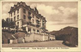 RIBEAUVILLÉ HOTEL BERG-HOF, BLICK AUF DIE 3 SCHLöSSER. SCAN R/V VOIR CACHET WW2 - Ribeauvillé