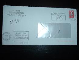 LETTRE TP BRIAT TVP ROUGE OBL.MEC.10-7-1996 MASSY PPAL (91) + OBL.MEC. PARIS 6 CHERCHE-MIDI RETOUR (75) + CACHET DE FACT - Postmark Collection (Covers)