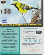 COSTA RICA PHONECARD BIRD CHORCHA-400000cps -10/00-USED