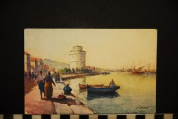 CP, GRECE, SALONIQUE, La Tour Blanche, Ecrite En 1918 - Grecia