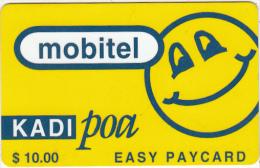 TANZANIA - Blue Smiling Sun, Mobitel Prepaid Card $10, Exp.date 01/06/02, Used - Tanzania
