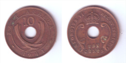 East Africa 10 Cents 1941 I - Colonie Britannique