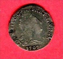 10 SOLS  1707   (CI 1964)   TB+ 32 - 1643-1715 Louis XIV Le Grand