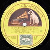 78 Trs - 30 Cm - GRAMOPHONE  DM 114 - état M - CARUSO - AÏDA - La Fatal Pietra Sovra Me Si Chiuse - O Terra, Addio - 78 Rpm - Schellackplatten