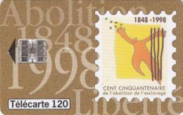 """GUADELOUPE - Cent Cinquantenaire De L"""" Abolition De L"""" Esclavage(120 Units), 06/98, Used - Antilles (French)"""