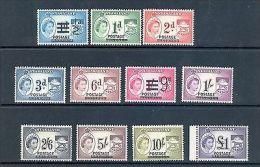 NYASALAND SG 188-98 1963 Q E II OVERPRINT DEFINITVE SET MNH - Nyassaland (1907-1953)