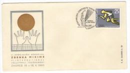 YUGOSLAVIA JUGOSLAVIJA COMMEMORATIVE COVER 1965 ZAGREB INTERNATIONAL VOLLEYBALL TOURNAMENT MEMORIAL ZDENKO MIKINA - Storia Postale