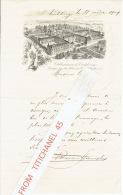 Lettre De 1909 Illustrée D´une Belle Lithographie Des Etablissements De CARLSBOURG - PROVINCE DE LUXEMBOURG - Non Classés