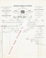 Facture 1898 HUY -  CH. CIPPA-BOIGELOT - Vitrier, Encadreur - Belgique