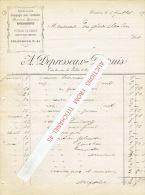 Facture 1895 VERVIERS - A. DEPRESSEUX-DUPUIS - Voitures De Remise Avec Ous Sans Chevaux, équipages Pour Cérémonies - Belgique