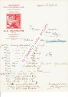 Lettre Illustrée 1911 VERVIERS - ALB. HERMANN - Typographie, Lithographie, Papeterie, Librairie, Imprimeur, éditeur - Zonder Classificatie