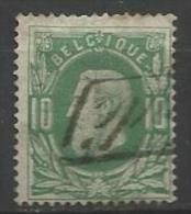 """Belgique - Leopol II - N°30 Dent.15 - Annulation """"ndé"""" Griffe Encadrée Recommandé - 1869-1883 Léopold II"""
