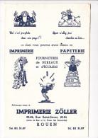 Buvard  ZOLLER Imprimerie Papeterie Fournitures Bureaux écoliers Prophete Chameau Désert Jongleur ROUEN - Papeterie