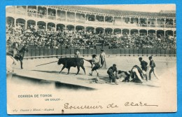 OV809,  Corrida De Toros, Un Coleo, Arènes, Tauromachie, Précurseur, Circulée 1903 - Stierkampf