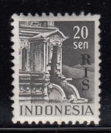 Indonesia MNH Scott #345 'RIS' Overprint On 20s Netherlands Indies - Indonésie
