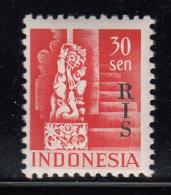 Indonesia MNH Scott #347 ´RIS´ Overprint On 30s Netherlands Indies - Indonésie