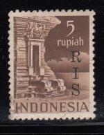 Indonesia Used Scott #356 ´RIS´ Overprint On 5r Netherlands Indies - Indonésie
