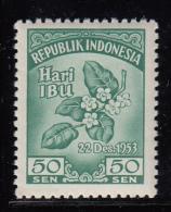Indonesia MNH Scott #401 50s Melati Flowers - Indonésie