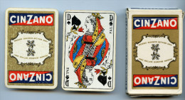 ANCIEN  JEU DE 32 CARTES  ET SON  ETUI - CINZANO - COMPLET - TRES BON ETAT - A SAISIR ++++ - Speelkaarten