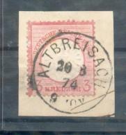 DR-Brustschild 25 ALTBREISACH Gest. Luxusbriefstück (46580 - Briefe U. Dokumente