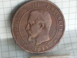 10 CENTIMES  1855  D - France