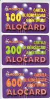 Moldova , Moldavie  Moldau , Old Prepaid Phonecards - Moldcell , 2002 ; 100 Units , 300 Units , 600 Units , Paper , Used - Moldova
