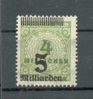 DR-Infla 333 STRICHLEISTE OBEN**POSTFRISCH (69980 - Duitsland