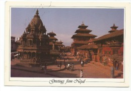 K2837 Greetings From Nepal - Patan Durbar Square - Nice Stamps Timbres Francobolli / Viaggiata 1990 - Nepal