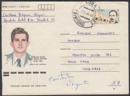 1985-EP-20 CUBA 1985. Ed.197k. POSTAL STATIONERY. MARTIRES DEL MONCADA. REINALDO BORIS SANTA COLOMA. TRINIDAD. S.S.P. US - Cuba