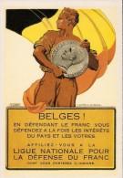 BELGIQUE: Ligue Nationale Pour La Défense Du Franc, Asbl Sous Le Patronage Du Roi. CARTE 56 DES ARCHIVES DU SOIR ( 2005) - Banques