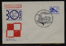 POLAND 1980 AIR FORCE PHILATELIC EXPO COMM COVER TYPE 1 FLIGH GLIDER OTTO LILIENTHAL - Airmail