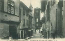 64 - SAINT-JEAN-PIED-de-PORT - L'Eglise, Vue De La Rue De La Citadelle - Saint Jean Pied De Port