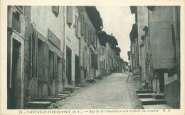 64 - SAINT-JEAN-PIED-de-PORT - Rue De La Citadelle Et Son Trottoir En Escalier - Saint Jean Pied De Port
