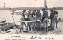 (33) Arcachon - Parqueurs Au Triage Des Huîtres 1902 - Ostréiculture -Guillier Edit., Libourne - Trés Bon état - 2 SCANS - Arcachon
