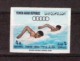 JO TOKIO 1964 / 1 Timbre  Poste Aérienne Natation NON DENTELE Neuf Sans Charnière /  Sans Présentoir / - Summer 1964: Tokyo