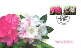 2009  Rhododrndrons  Sc 2319-20  Combination FDC - 2001-2010