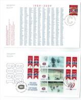 2009  Monteal Canadians Hockey Club Centennial  Sc 2339-40  Single And Souvenir Sheet On 2 FDCs - 2001-2010
