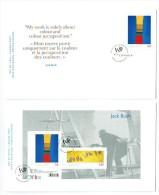 2009   Jack Bush, Painter  Sc 2321-2  Single And Sovenir Sheet On 2 FDCs - 2001-2010