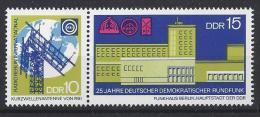 Germany (DDR) 1970  25 Jahre DDR Rundfunk  (**) MNH  Mi.1573-1574 (W Zd 217) - [6] Democratic Republic