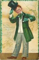 235743-Saint Patrick´s Day, IAP 1907 No IAP01-1, Ellen Clapsaddle, The Top O´ The Mornin´ To You, Irish Man & Top Hat - Saint-Patrick's Day