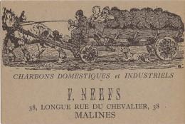 Alfred Ost: Reclametekening Voor F. Neefs (kolenhandelaar In Mechelen) - Malines