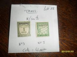 2014 - Cote = 40,ooeur - TP / TAXES N° 5 Et 9  - NEUFS* - Andorre Français