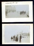 Lot De 2 Cpa Carte Photo Ostende Le Kursaal  Datées 1908  JA15 13  .. Oostende - Oostende