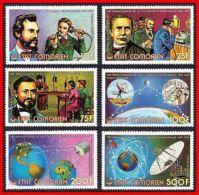 COMOROS/COMORO IS. 1976 BELL Telephone SC#196-201 MNH CV$10.00 SPACE - Telecom