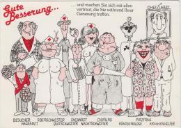 AK - Kunstkarte Gute Besserung  1981 - Rotes Kreuz